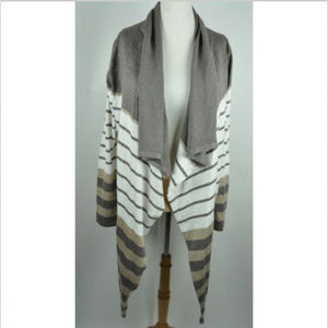 Kate & Mallory long sleeve striped cardigan size L